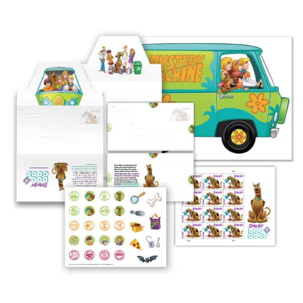 Letter Writing with USPS Scooby Doo Stationery Kit