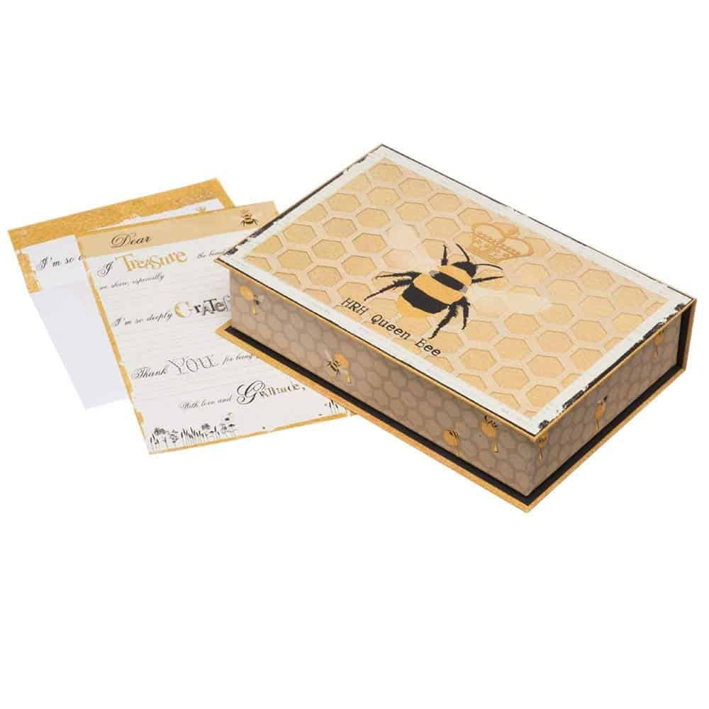 The Gratitude Box Queen Bee Stationery Set
