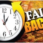 Time Change Postcards Fall Back Clock