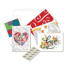 USPS Love Flourishes Vintage Notecards Stationery