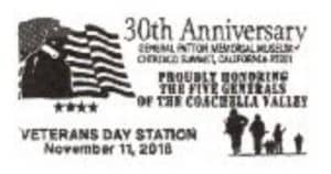 Veterans Day 2018 Pictorial Postmark General Patton Memorial Museum