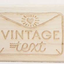 Vintage Text Rubber Stamp