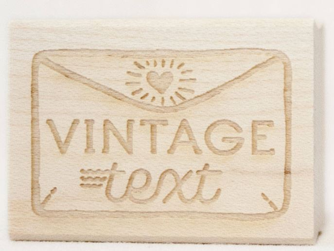 Vintage Text Rubber Stamp
