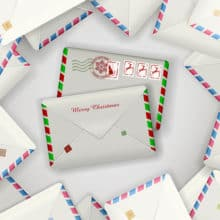 Giving a Year of Letters Christmas Gift Idea