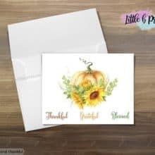 Thankful Pumpkin Stationery Greetings