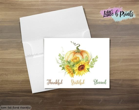 Thankful Pumpkin Stationery Greetings