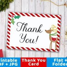 Sending Christmas Thank You Notes Printable