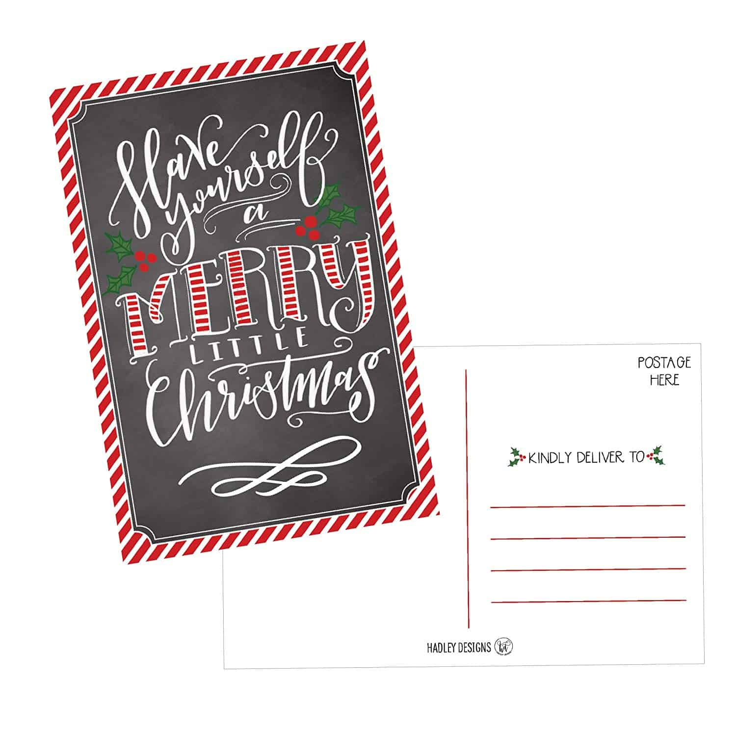 Christmas Postcard Set Great for Creating Bookmarks