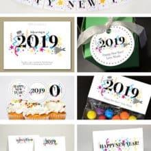DIY Printable Happy New Year Card