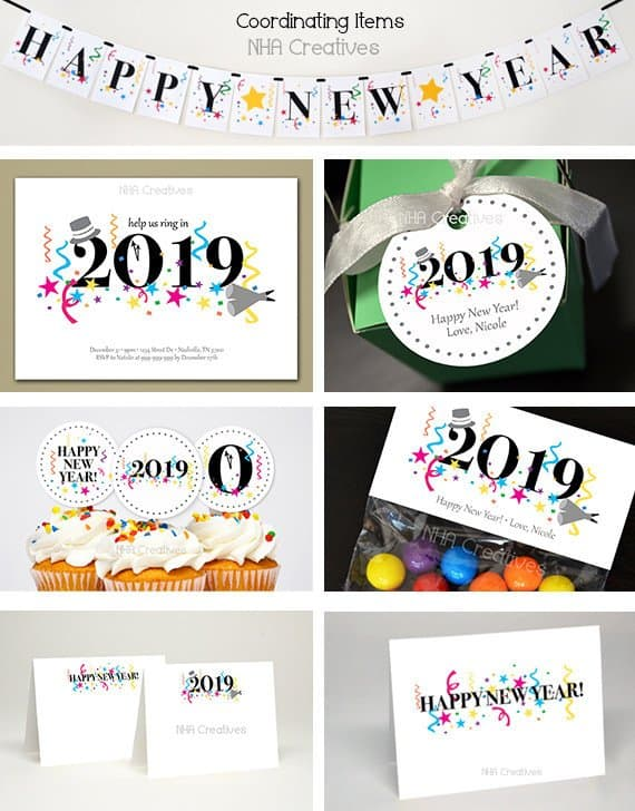 DIY Printable Happy New Year Card