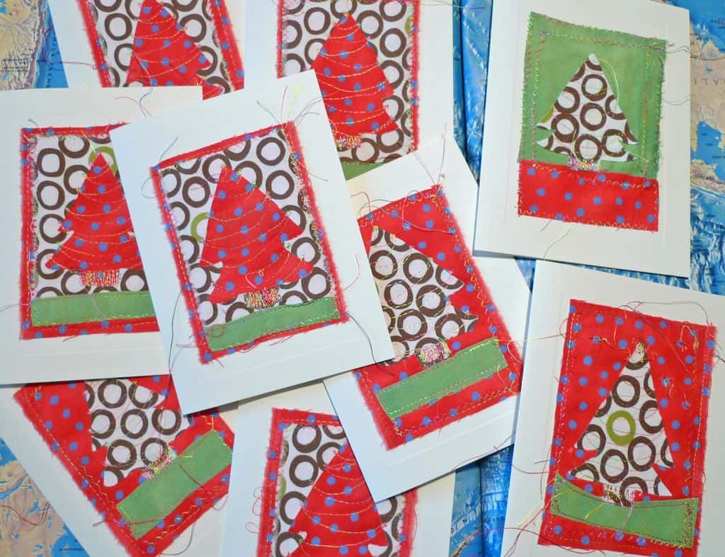 Instructables Christmas Card Sewing cards