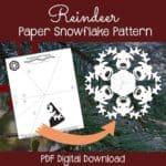 PaperSnowflakeArt Reindeer Paper Snowflake