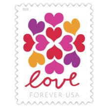 2019 Love Hearts Blossoms stamp debuting in January 2019