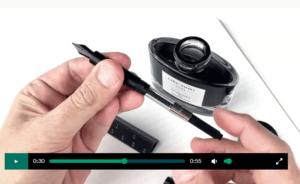 Escala scale ruler fountain pen screenshot video