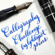 Goldspot Pens Calligraphy Challenge 2019