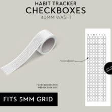 Habit Tracker Checkboxes Washi Tape