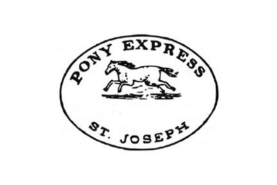 Pony Express Rubber Stamp by Terbear Collectibles