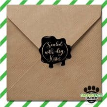 Letters Sealed with Dog Kisses Pet Rubber Stamp