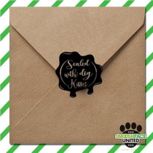 Sealed with Dog Kisses Pet Rubber Stamp