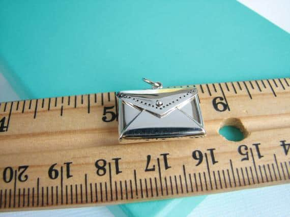 Sterling Silver Envelope Charm Letter Locket