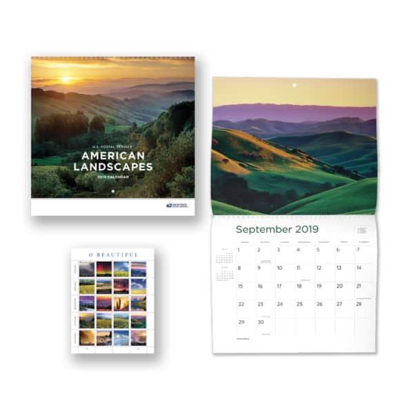 Discovering USPS 2019 American Landscapes Calendar