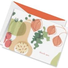 Crane Squash and Friends Thank You Notes