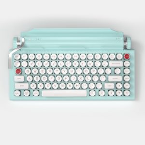 Mint QWERKYWRITER® S COLOR Typewriter Inspired Keyboard