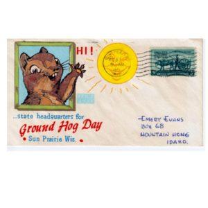 City of Sun Prarie Groundhog Day Website vintage commemorative postcard