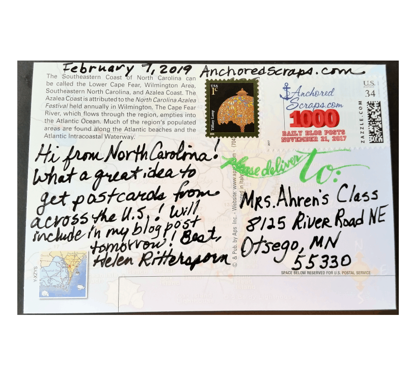 Requests for Kindergarten Class 100 Postcards & WWII Veteran Turning 93 Early Birthday Cards