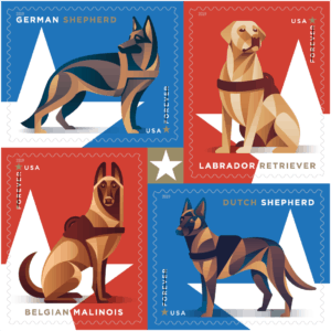 Military Working Dogs Forever stamp USPS
