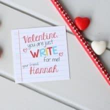 Printable Pencil Write Stuff Valentine