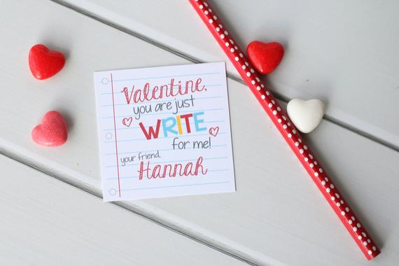 Printable Pencil Write Stuff Valentine
