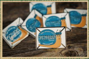 Postmark'd StudioSnail Mailer Enamel Pin