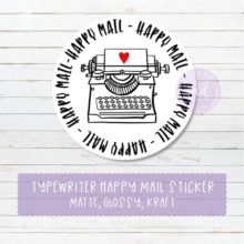 Typewriter Happy Mail Sticker