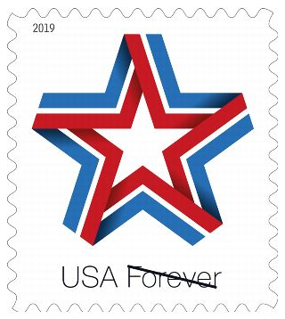 Star Ribbon Forever Stamp Arriving 2019 March 22