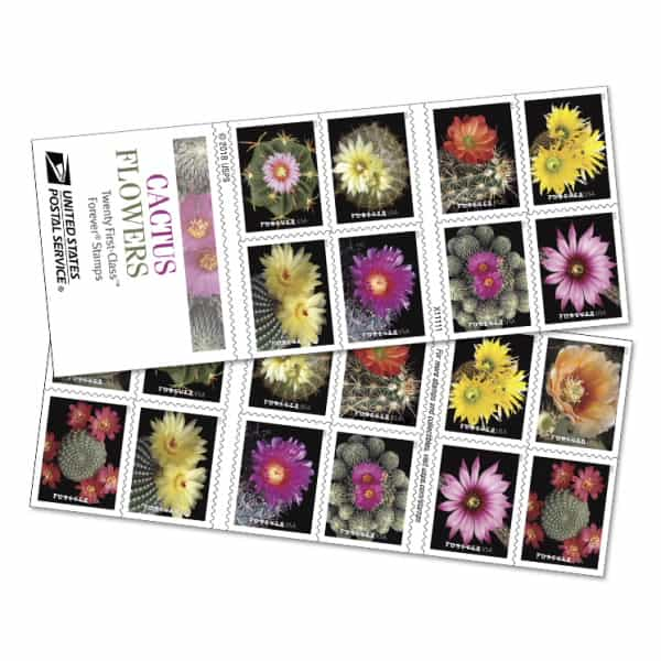 USPS Cactus Flowers 2019 Forever Stamp Booklets
