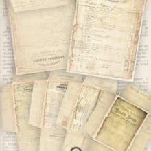 Vectoria Designs Vintage Ephemera Envelopes printable