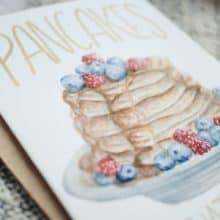 Pancakes Watercolor Card
