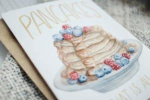 Pancakes Watercolor Card That Is All AmbersArtistryShop