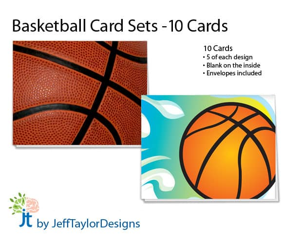 In time for March Madness 2019: Basketball Stationery Notecard Set