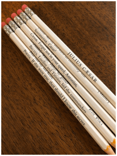 Ides of March and Julius Caesar Wrapped Pencil Set; Brando as Mark Antony, and The Godfather today's date tie-ins