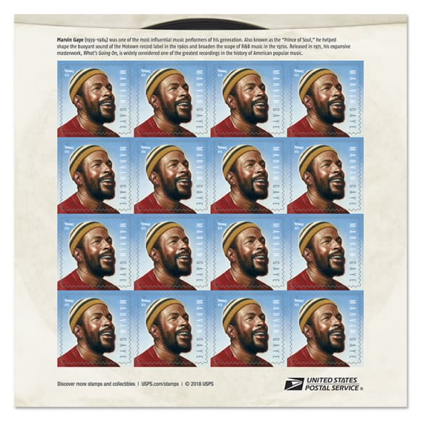 Marvin Gaye 2019 Forever Stamp Debuting April 02