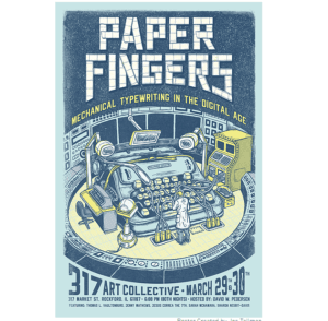Paper Fingers Typewriter Event Mechanical Typewriting In The Digital Age