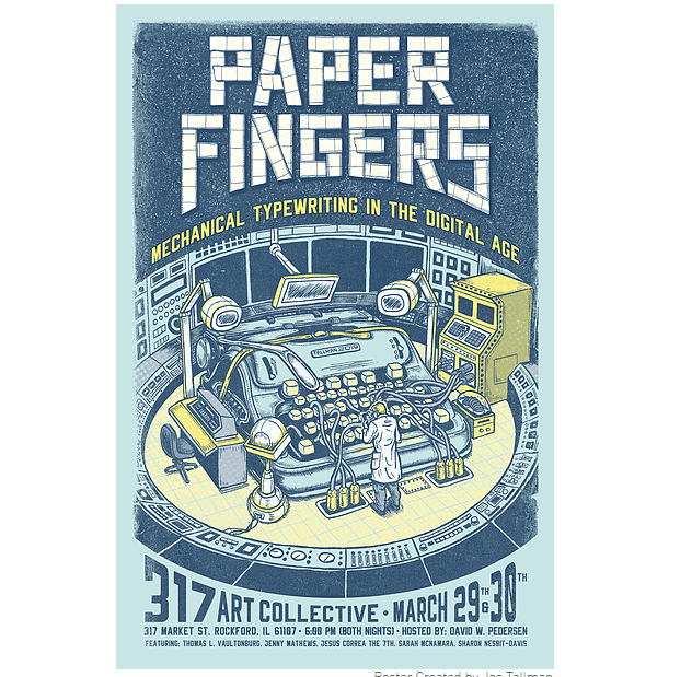 Paper Fingers Typewriter Event March 29 & 30