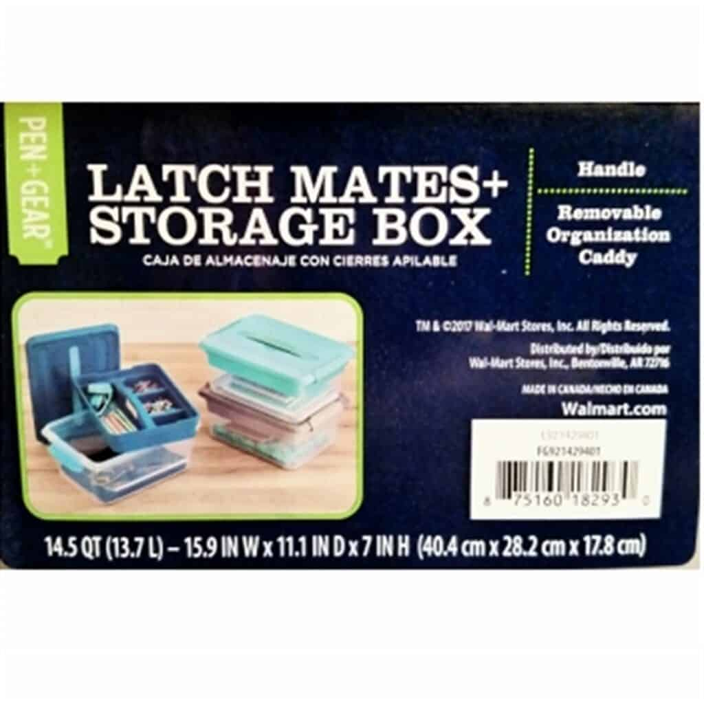 LatchMate Storage Box with Caddy Letter Writing Organization
