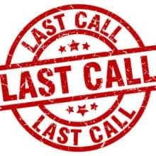 Last Call USPS Stamps Withdrawing March 31, 2019