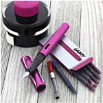 Lamy AL-Star Vibrant Pink Fountain Pen and Ink Gift Set at Goldspot Pens