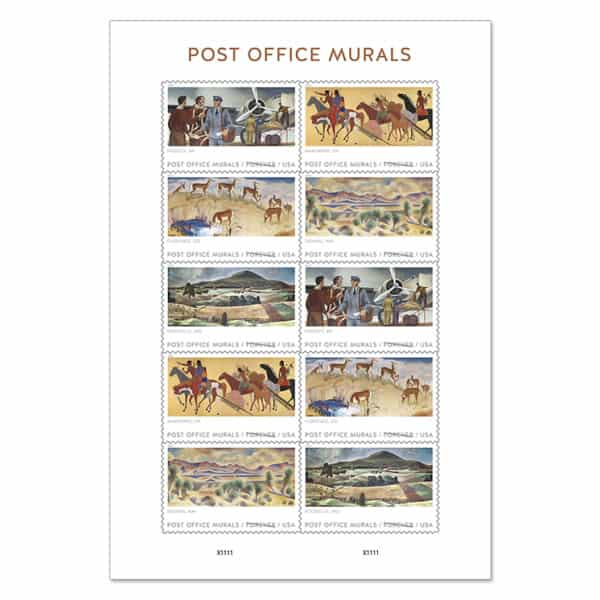 Post Office Murals Forever Stamps Debut Today 571104-Z0