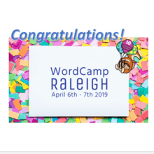 Congratulations WordCamp Raleigh 2019 10th Anniversary!