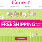 Current Spring Sale Free Shipping